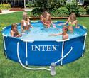Intex Basen ogrodowy okrągły z metalow ...