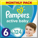 Pampers Active Baby 6 124 szt.